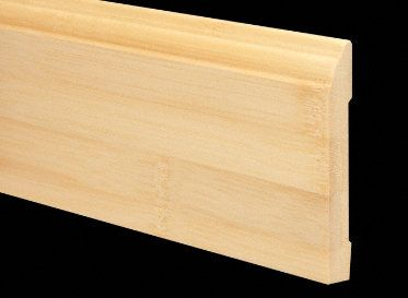 1/2&#034; x 3-1/4&#034; 6LFT Natural Bamboo Baseboard
